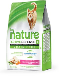By Nature ACTIVE DEFENSE+ Cat Food Ocean Whitefish & Green Peas 4.8 Pounds