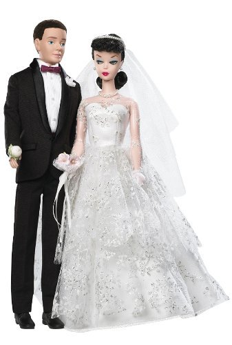 Barbie - 50th Anniversary - Collector Series - My Favorite Couple - 1959 - Wedding Day - Barbie & Ken Doll Gift Set by Mattel