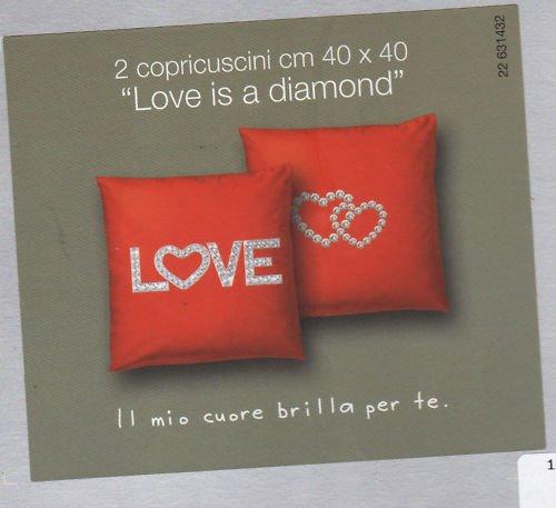 Cojín cojines muebles Bassetti Love Diamond Rojo precio ...