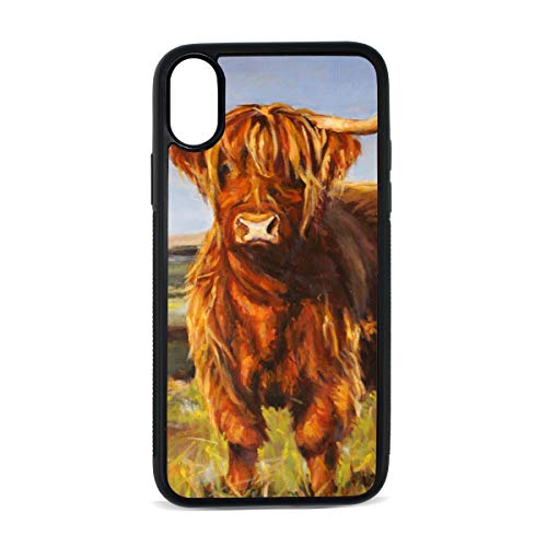 (iPhone X Case,Animal Yak Oil Paintings TPU Anti Scratch Protective Cover,Compatible Cell Phone Cases,Printed Shockproof Defender 5.8in)