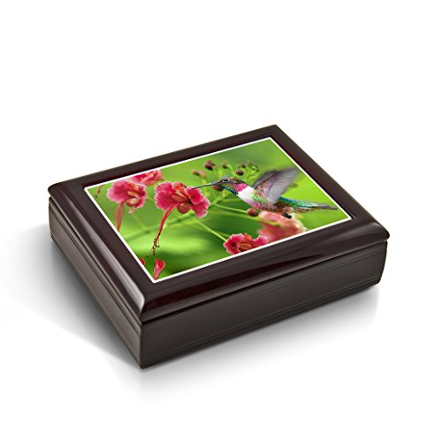 Frozen In Time; Hummingbird Tile Musical Jewelry Box - Talk to the Animals by MusicBoxAttic