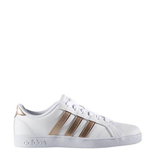 promo code 3fa50 f23cf Galleon - Adidas Originals Unisex-Kids Baseline Sneaker, WhiteCopper  MetallicBlack, 4.5 M US Big Kid