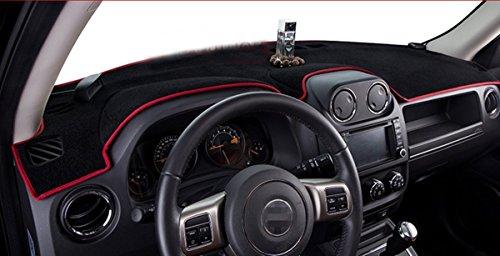 FMtoppeak Dashboard Dash Dark Mat Dash Mat Sun Cover Pad For Jeep Patriot 2011-2016 Red with Logo