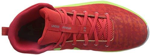 Under Armour Herren UA Fireshot Basketballschuhe Rocket Red / Treibstoff Grün / Stahl