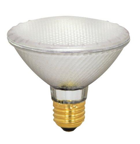 Satco S4131 39 Watt (50 Watt) 500 Lumens PAR30 Short Neck Halogen Flood 42 Degrees Frosted Light Bulb, Dimmable ()