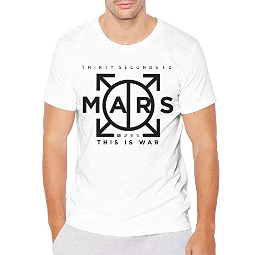 GLleaf Mens Vintage 30 Seconds to Mars T-Shirt 6XL White (30 Seconds To Mars Vintage T Shirt)