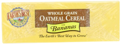 Earth's Best Organic Whole Grain, Oatmeal Cereal with Bananas, 8-Ounce Boxes (Pack of 6)