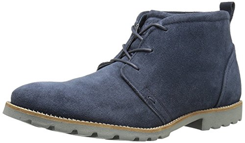 Rockport Men's Sharp and Ready Charson Synthetic Chukka Boot- Navy Suede-10.5  - Boots Rockport Men For Winter