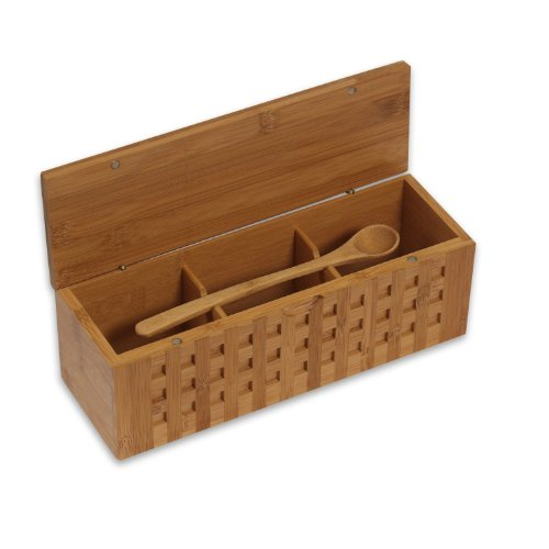 Island Bamboo 10-1/4-Inch Triple Scoop Box ()