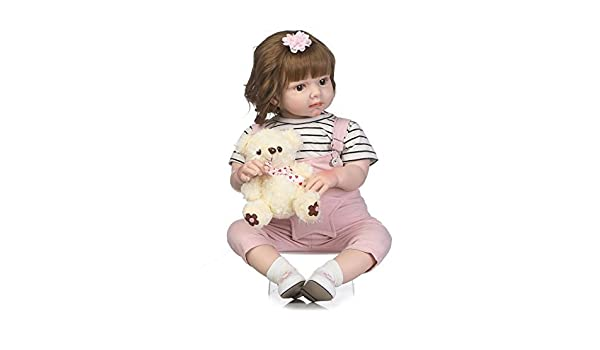28inch Toddler Reborn Baby Doll Realistic Girl Gift Box Package Blonde Hair 70cm