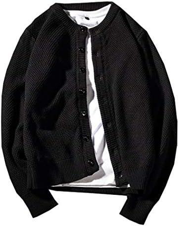 メンズ ニット カーディガン ジャケット ゆったり 厚手 無地 トップス ノーカラー パインアップル すじニット 長袖 スウェット ボタン 丸首 前開き ニットコート カジュアルジャケット アウター 春秋 冬物 大きいサイズ A1138 (L)