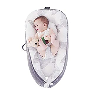 LOAOL Baby Lounger Newborn Co Sleeping Bassinet Reversible Portable Snuggle Infant Nest Bed