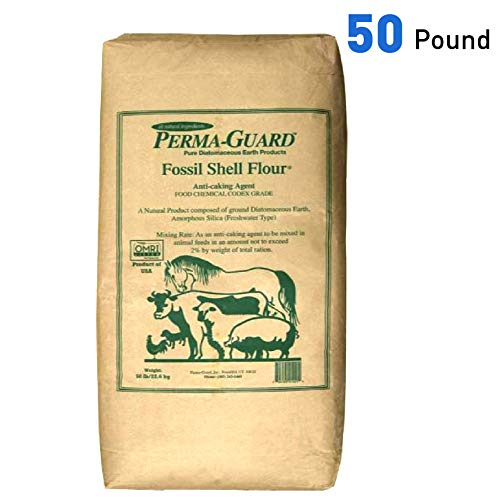 Perma Guard EGP-DE-50C erma Guard Diatomaceous Earth-DE Food Grade, 50 lb, White
