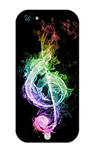 iZERCASE Music Note Colorful Rubber iPhone 5/5S Case Fits iPhone 5, 5S, T-Mobile, AT&T, Sprint, Verizon & International