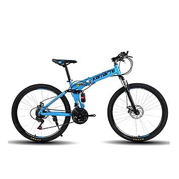 Amazon.com: Omeng - Bicicleta plegable de doble disco de ...