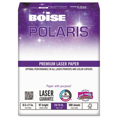 POLARIS Premium Laser Paper, 97 Bright, 28lb, Letter, White, 500 Sheets, Sold as 1 Ream, 500 per Ream