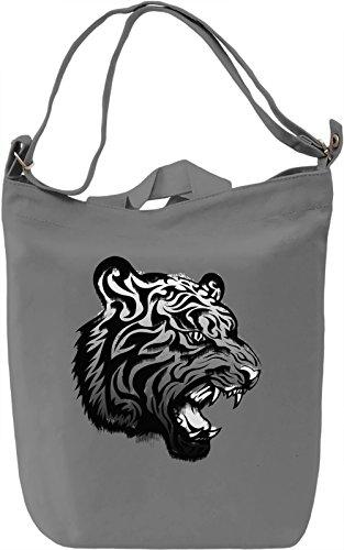 Graphic Tiger Borsa Giornaliera Canvas Canvas Day Bag  100% Premium Cotton Canvas  DTG Printing 