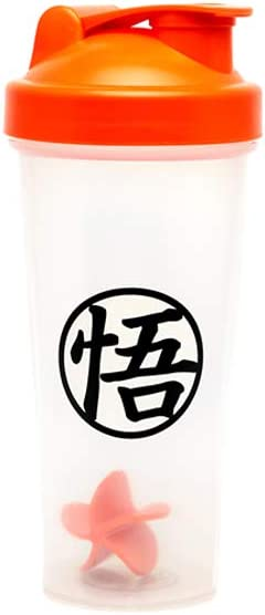 JUST FUNKY Dragon Ball Z Blue Vegeta Shaker Bottle 20 oz Best Portable Pre Workout Whey Protein Drink Shaker Cup Mixes Cocktails Smoothies and Shakes Dishwasher Safe