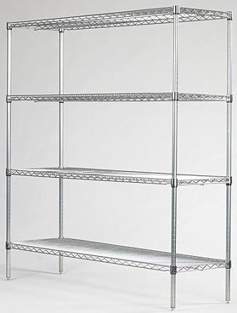 amazon com omega precision 4 shelf starter unit qty 4 18 deep rh amazon com 18 inch deep shelves 18 deep shelving heavy duty with wheels