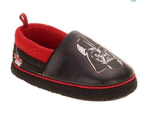 Star Wars Darth Vader Boy's Slippers A-Line Slippers Black (7-8 M US (Star Wars Darth Vader Slippers)