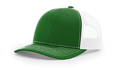 Richardson Kelly/White 112 Mesh Back Trucker Cap Snapback Hat w/THP No Sweat Headliner