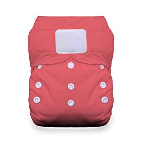 Thirsties Duo All in One Cloth Diaper with Hook and Loop, Rose, Size 2