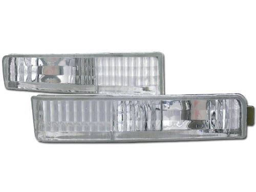 Velocity Concepts Crystal Clear Lens Front Signal Parking Bumper Lights Lamps 90-91 for Accord