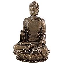 "Top Collection Small 3"" Shakyamuni Buddha Decorative Figurine. Resin with Bronze Finish."