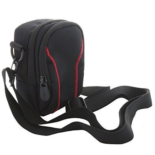 XiRRiX Kameratasche mit Schultergurt, Gürtelschlaufe und Karabiner - für Kompaktkamera z.B. Panasonic Lumix LF1 - Canon G7 G9 X RX100 III IV etc