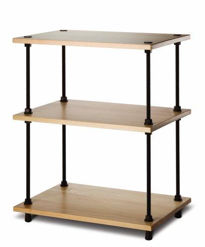 Salamander Designs A3/M Archetype 3-Shelf Audio Stand (Maple) (Living Maple Room Bookcase)