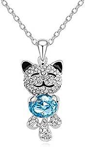 Cartoon wolf pendant necklace