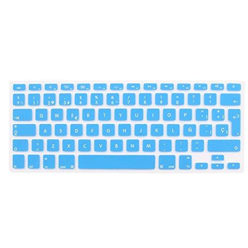 Amazon.com: eDealMax la piel del teclado español Azul de la cubierta de la UE Para el MacBook Air DE 17 pulgadas 13 15: Electronics