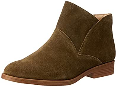 Hush Puppies  Colbert Boots, Olive Suede, 5 US