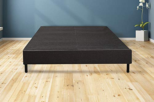 MATTRESS AMERICA Easy Assemble Mattress Foundation/Box Spring with Legs. Strong Steel Structure with Wood slats, Cover and 6'' Legs. Can be Used and as Platform Base or just a Box Spring (Queen)