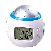 NuoYa001 Children Room Sky Star Night Light Projector Lamp Bedroom Alarm Clock W/music