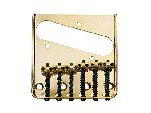 (Telecaster vintage ashtray bridge 6 saddles gold fits vintage tele)
