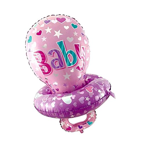 Jili Online Baby Boy Girls Pacifier Aluminum Foil Helium Balloons Baby Shower Birthday Kids Party Toys - Pink]()