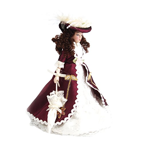 - Baoblaze 1/12 Dollhouse Miniature Porcelain Doll Victorian Lady in Gown People Figures Model Display