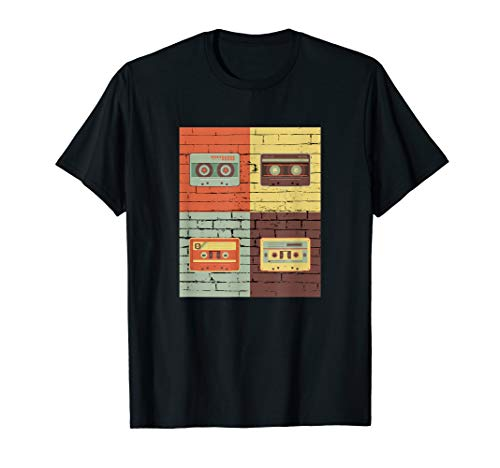 Vintage Old School Cassette Tapes Shirt Music Lover Gifts