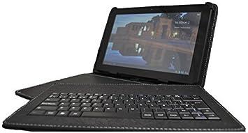 Theoutlettablet® Funda Negra con Teclado extraíble en español (Incluye Letra Ñ) para Tablet Woxter QX 103 / SX 100 / SX 110 / SX 200 / SX 220 / Zen 10 ...