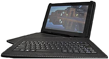 Theoutlettablet® Funda Negra con Teclado extraíble en español (Incluye Letra Ñ) para Tablet Lenovo Tab 2 A10-30 X30F 10.1