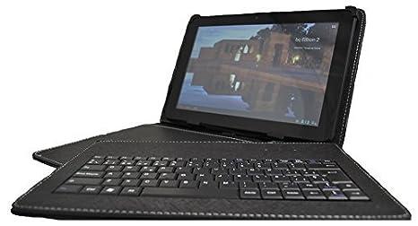 Theoutlettablet® Funda Negra con Teclado extraíble en español (Incluye Letra Ñ) para Tablet