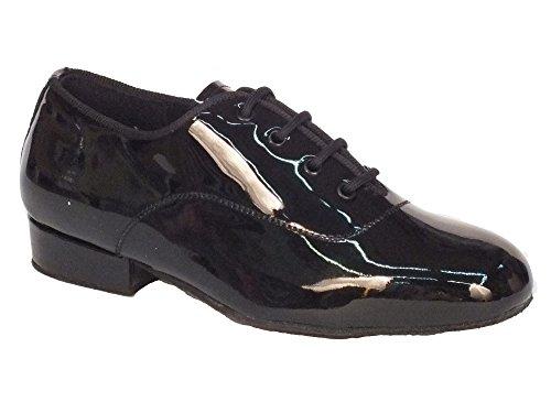 Vitiello Dance Shoes  Classic vernice standard, Jungen Tanzschuhe Schwarz Nero Nero Lucido