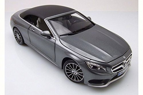 - 2015 Mercedes-Benz S-Class Convertible, Grey Metallic - Norev 183484 - 1/18 Scale Diecast Model Toy Car