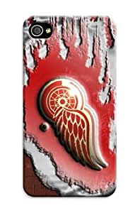 DIY Stylish NHL Detroit Red Wings Protective Hard Case for iPhone 4/4S