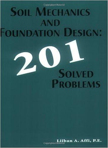 Soil Mechanics Foundation Design 201 Solved Problems Liiban 1st Edition