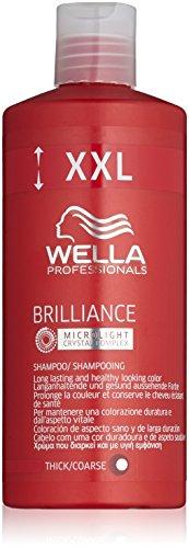Wella Brilliance Shampoo für kräftiges Haar, 500 ml XXL