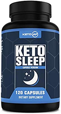 Keto Sleep - 5-HTP, MCT, Zinc & Magnesium. Ketogenic Recovery and Sleep Enhancement Formula by Keto AF, 120 Capsules (30 Servings)