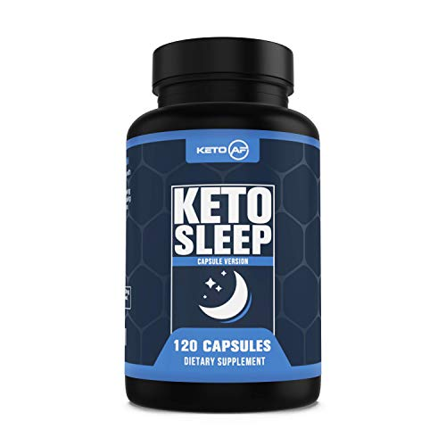 Keto Sleep – 5-HTP, MCT, Zinc Magnesium. Ketogenic Recovery and Sleep Enhancement Formula by Keto AF, 120 Capsules 30 Servings