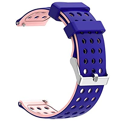 Moretek 18mm / 20mm / 22mm Sport Replacement Silicone Watch Bands Strap Compatible for Samsung Gear/Samsung Galaxy Watch/Huawei Watch/More from Moretek
